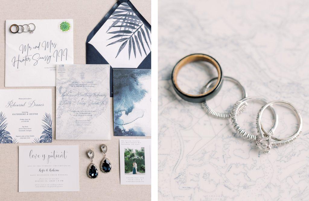Coastal wedding invitations for a Savannah wedding